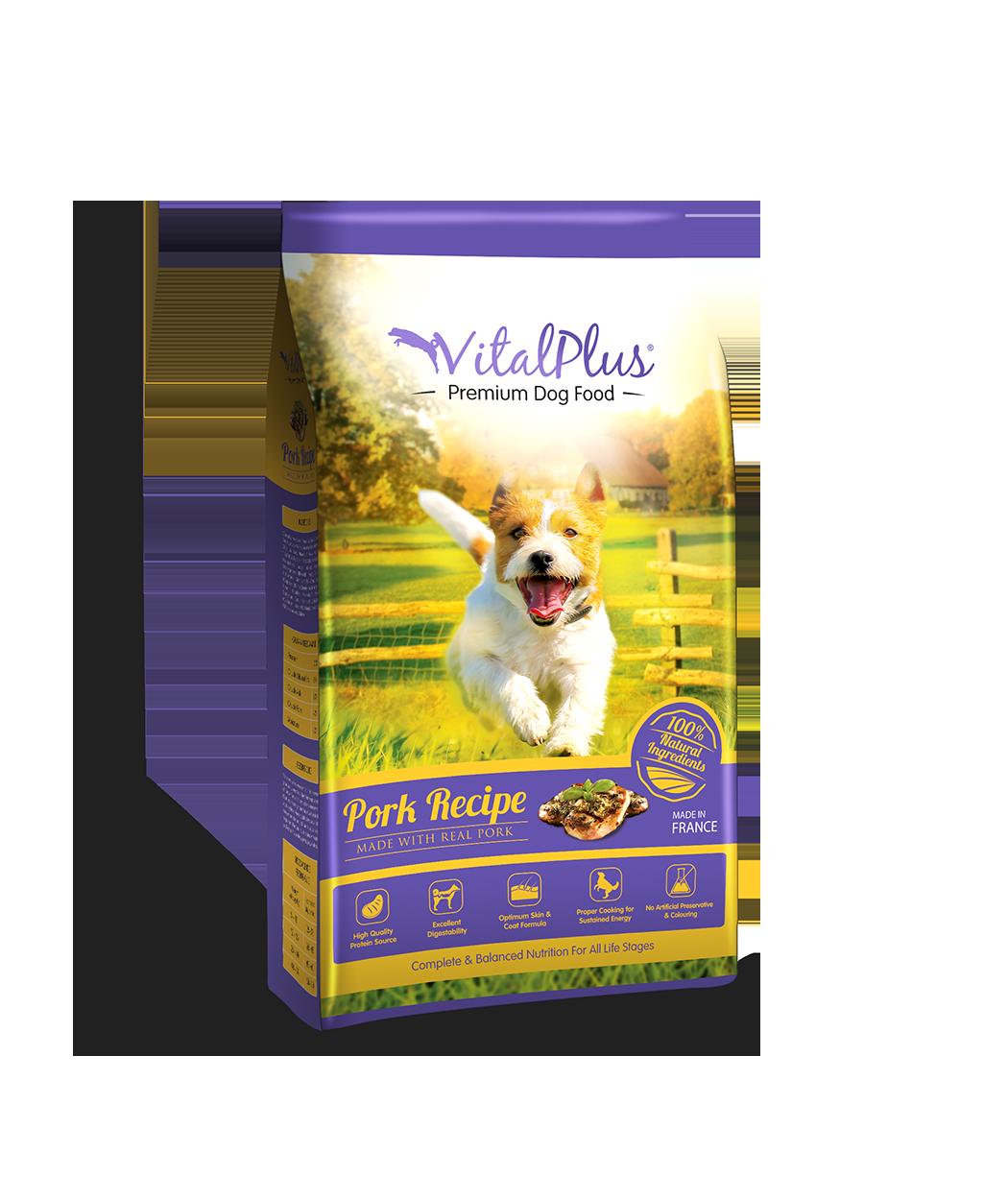 VitalPlus Dog 4kg_Pork_Web